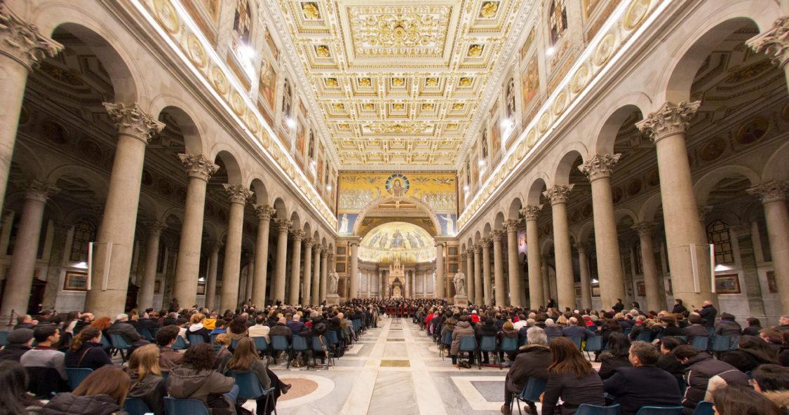 聖パオロ大聖堂でのコンサート風景